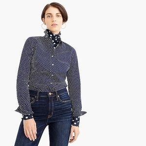 J. Crew Slim Stretch Perfect Shirt in Polka Dot